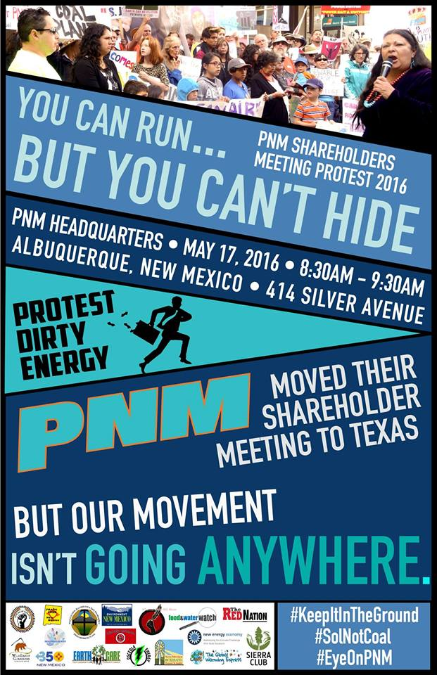Protest PNM Shareholder meeting